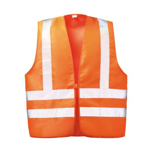 Warnweste Orange Baumwolle Mit Schulterreflexstreifen