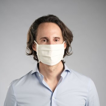 Mund- u. Nasenbedeckung aus Baumwolle